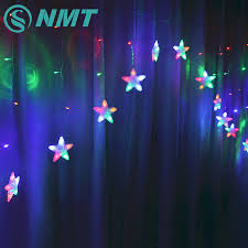 Led Star Curtain String Light Led Fairy Strip Rope Lamp Window Light For Bedroom Kids Room Party Hallowen Birthday Tree Supplies Led String Aliexpress