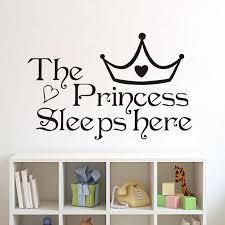 The Princess Sleep Here Wall Sticker Picksthatstick