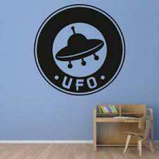 Ufo Badge Alien Spaceship Wall Decal Sticker Ws 19580 Ebay