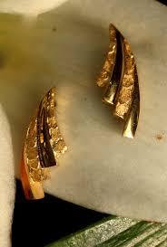 alaskan gold nugget earrings yellow gold