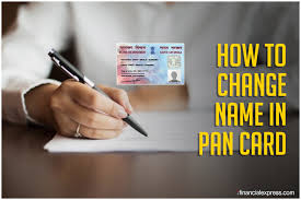 how can i correct my name in pan card