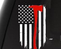 Thin Red Line Decal Etsy