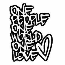 One Love Vinyl Decal Sticker