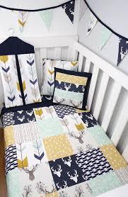 woodland buck nursery cot quilt