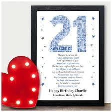 personalised 21st birthday gifts for
