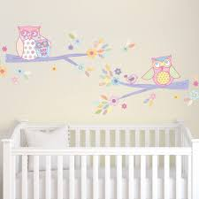 Girls Owls Glitter Wall Decals Fun Rooms For Kids