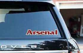 Arsenal London Town City Window Bumper Vinyl Decal Sticker Car Van Ipad 2pack Ebay