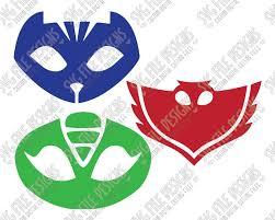 Pj Masks Svg Cut File Set With Owlette Gekko And Catboy