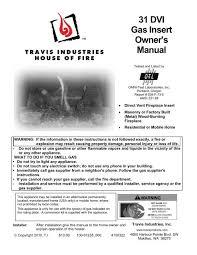 31 dvi gas insert owner s manual
