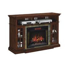cherry brown electric fireplace tv