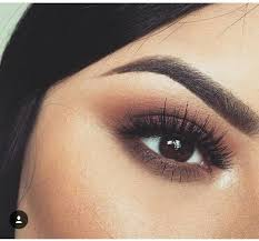 cute makeup for dark brown eyes