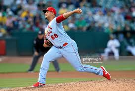 Adalberto Mejia of the St. Louis Cardinals pitches against the ...