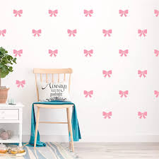 Colorful Bow Knot 33 57cm Wall Decals Kids Rooms Bedroom Nursery Home Decor Vinyl Wall Stickers Diy Wallpaper Wall Stickers Aliexpress