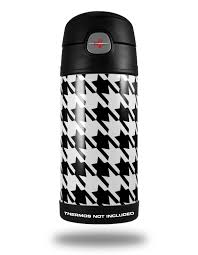 Thermos Funtainer 12oz Bottle Skins Houndstooth Black Wraptorskinz