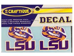 Lsu Tigers 2 Lsu Tiger Eye Premium Vinyl Decals 2 Per Pack Purple And Gold Sports
