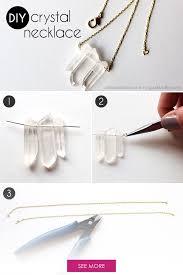 diy crystal necklace diy crystals