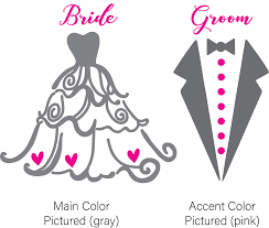Bride And Groom Vinyl Graphic Decal Sticker By Shop Vinyl Design Shop Vinyl Design