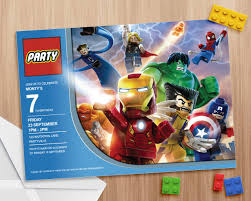 Lego Avengers Party Invite Editable And Printable Print As