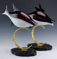 pr lucio zanetti murano glass art fish