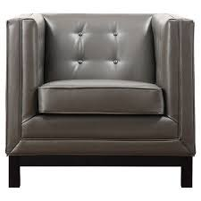grey leather chair accent chairs
