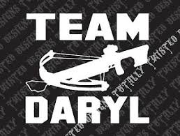 Team Daryl The Walking Dead Vinyl Car Truck Decal Sticker Rick Grimes Dixon Ebay