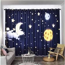 2020 3d Curtains Childrens Room Cute Cartoon Curtain Star Moon Boy Girl Bedroom Kid Room Blackout Curtain From Wallpaper1688 201 01 Dhgate Com