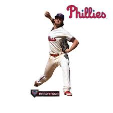 Aaron Nola Life Size Officially Licensed Mlb Removable Wall Decal Removable Wall Decals Aaron Nola Removable Wall