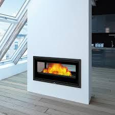 wood burning fireplace insert double