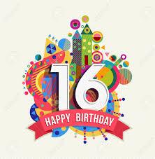 Dieciseis Feliz Cumpleanos 16 Anos Tarjeta De Felicitacion