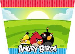 Cumpleanos De Angry Birds Invitaciones Y Etiquetas Para Candy