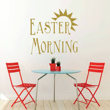 Easter Home Decor Sunrise Vinyl Decor Wall Decal Customvinyldecor Com