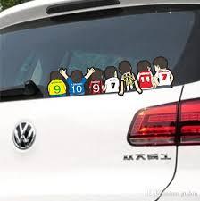 2020 Hot Football Team Cartoon Car Stickers Fun European Cup Football Team Decal Personalized Car Styling Sticker 60 15cm From Gudou 3 52 Dhgate Com