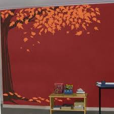Vinyl Wall Decal Family Blowing Maple Tree Decal Falling Leaves Leaf Corner Trees Half Truck Decals On Luulla