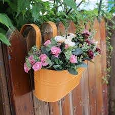 Hanging Basket Trough Garden Fence Balcony Colorful Large Hang Planter Plant Pots Railing Flower Pot Hanging Baskets Flower Pots Planters Aliexpress