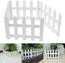 Amazon Co Jp Readygohigh Wooden Garden Fence White 4 Rows Of Paint Flower Bed Fence Border Fence Pique Stick Fence Outdoor Indoor Garden Flower Beds Tree Fence Mini Fence Diy Tools Garden