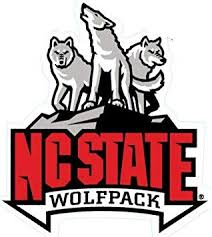 Amazon Com 5 Inch North Carolina Nc State University Wolfpack Ncsu Logo Removable Wall Decal Sticker Art Ncaa Home Room Decor 5 By 5 Inches Baby