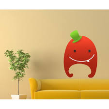 Cute Little Red Monster With Green Top Hat Wall Decal Vinyl Sticker Car Sticker Idcolor013 25 Inches Walmart Com Walmart Com