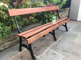 cast iron garden bench in cleckheaton
