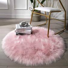 Fluffy Round Rug Carpets For Living Room Decor Faux Fur Rugs Kids Room Area Rug Modern Mats Long Plush Rugs For Bedroom Shagg Carpet Aliexpress