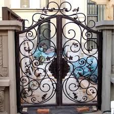 Creative European Wrought Iron Gates Wrought Iron Gates Outdoor Garden Patio Door Double Door Security Fence Gate Fence Gate Door Fence Chargergate Remote Control Receiver Aliexpress