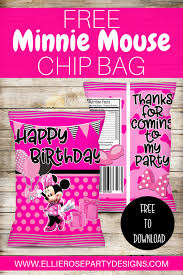 free minnie mouse bags