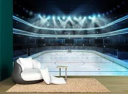 Ice Hockey Arena Rink Wall Mural Photo Wallpaper Giant Wall Decor Ebay