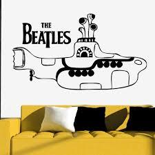 Yellow Submarine Wall Decal The Beatles Vinyl Art Decor Silhouette Heads John Lennon Paul Mccartney George Harriso Beatles Vinyl Yellow Submarine The Beatles