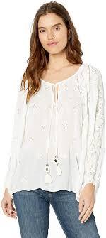 Amazon.com: Ramy Brook Women's Embellished Myra Long Sleeve Top: Clothing