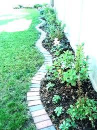 brick garden border housegarner co