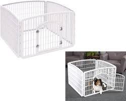 Amazon Com Iris Heavy Duty Pet Playpen Plastic 4 Panel Exercise Dog Fence Kennel Indoor Outdoor Pet Supplies