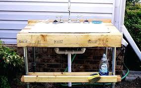 patio sink ideas easy to build outdoor