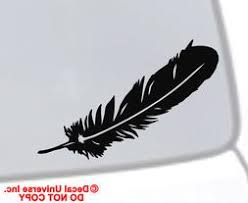 Indian Feather Car Decal Cardecal