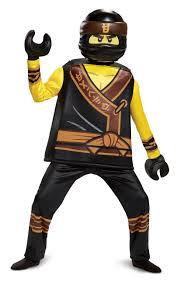 Kids Deluxe Lego Ninjago Movie Black Ninja Costume - Cole