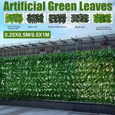 Artificial Hedge Ivy Leaf Garden Fence Roll Green Wall Privacy Balcony Screening Lazada Ph